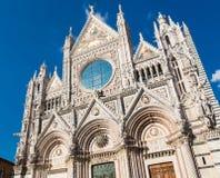 Πρόσοψη του Di Σιένα Duomo θόλων της Σιένα Στοκ Εικόνες