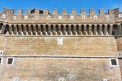 Πρόσοψη του Giulio ΙΙ Castle σε Ostia Antica - τη Ρώμη Στοκ φωτογραφίες με δικαίωμα ελεύθερης χρήσης
