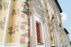 Πρόσοψη Artsy με τις στήλες Στοκ Εικόνα