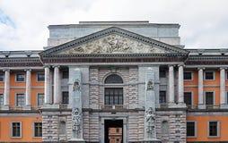 Πρόσοψη Mikhailovsky & x28 Engineers& x27 & x29  Castle στη Αγία Πετρούπολη Στοκ εικόνα με δικαίωμα ελεύθερης χρήσης