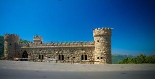 Πρόσοψη Moussa Castle στο Al Qamar, Λίβανος Deir Στοκ φωτογραφίες με δικαίωμα ελεύθερης χρήσης
