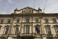 Πρόσοψη Palazzo Arese Litta στο κέντρο του Μιλάνου στοκ εικόνες