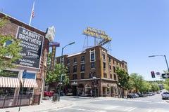 Πρόσοψη Vista Monte ξενοδοχείων στο κέντρο Flagstaff, Αριζόνα στοκ εικόνες