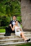 Πρόσφατα ζεύγος Wed Στοκ φωτογραφία με δικαίωμα ελεύθερης χρήσης