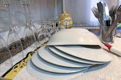 Πρόσφατα τριμμένα εμπορεύματα πιάτων Στοκ φωτογραφία με δικαίωμα ελεύθερης χρήσης