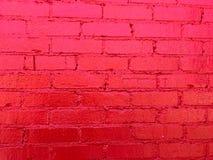 Πρόσφατα χρωματισμένος τούβλινος τοίχος στοκ φωτογραφία με δικαίωμα ελεύθερης χρήσης