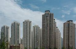 Πρόσφατα χτίστε τα κινεζικά εμπορικά επίπεδα στοκ εικόνες