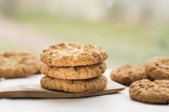 Πρόσφατα ψημένα μπισκότα Anzac Στοκ Εικόνα