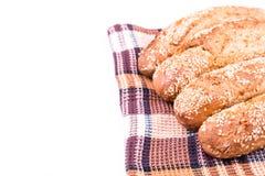 Πρόσφατα ψημένοι ρόλοι ψωμιού με το σουσάμι Στοκ εικόνες με δικαίωμα ελεύθερης χρήσης