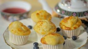 Πρόσφατα ψημένος cupcakes φιλμ μικρού μήκους
