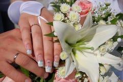 πρόσφατα weds Στοκ Εικόνα