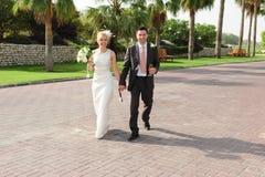 πρόσφατα weds Στοκ εικόνα με δικαίωμα ελεύθερης χρήσης