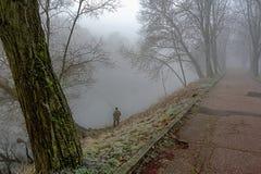Πρόσφατος ποταμός φθινοπώρου παραλιών Στοκ φωτογραφίες με δικαίωμα ελεύθερης χρήσης