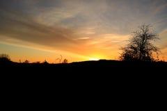 Πρόσφατο ηλιοβασίλεμα Στοκ Εικόνα