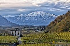 Πρόσφατο φθινόπωρο σε Ticino Στοκ Εικόνες