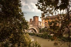 Πρόσφατο φθινόπωρο στη Ρώμη, Ιταλία στοκ εικόνα με δικαίωμα ελεύθερης χρήσης