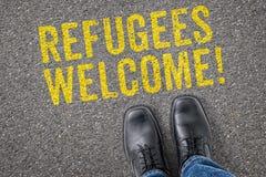 Πρόσφυγες ευπρόσδεκτοι Στοκ Εικόνες