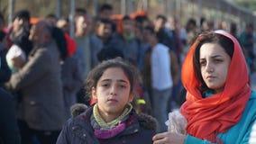 Πρόσφυγες στο στρατόπεδο Στοκ εικόνες με δικαίωμα ελεύθερης χρήσης