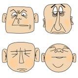 πρόσωπα ανθρώπων απεικόνιση αποθεμάτων