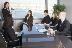 πρόσωπα επιχειρηματικών μ&omicr Στοκ Εικόνες