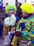 πρόσωπα κλόουν καρναβαλιού στοκ εικόνες