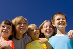 πρόσωπα παιδιών ευτυχή Στοκ φωτογραφία με δικαίωμα ελεύθερης χρήσης