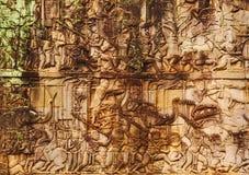 Πρόσωπα στην είσοδο του ναού Bayon, Angkor Wat, Καμπότζη Στοκ φωτογραφίες με δικαίωμα ελεύθερης χρήσης