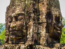 Πρόσωπα στο ναό Bayon, Angkor Thom Στοκ Εικόνες