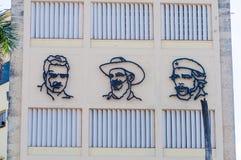 Πρόσωπα της επανάστασης στην Αβάνα, Κούβα Στοκ Εικόνες