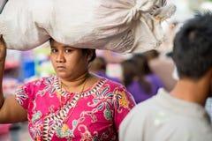 Πρόσωπα του Μιανμάρ Στοκ Φωτογραφία