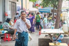 Πρόσωπα του Μιανμάρ Στοκ Εικόνες