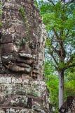 Πρόσωπα του ναού Bayon σε Angkor Thom, Siemreap, Καμπότζη Στοκ Εικόνα