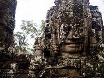 Πρόσωπα του ναού Bayon σε Angkor Thom, Siemreap, Καμπότζη Στοκ φωτογραφίες με δικαίωμα ελεύθερης χρήσης