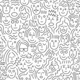 Πρόσωπα των ανθρώπων - άνευ ραφής υπόβαθρο Στοκ φωτογραφίες με δικαίωμα ελεύθερης χρήσης
