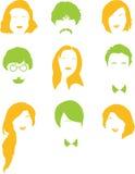πρόσωπα διανυσματική απεικόνιση