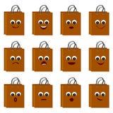 Πρόσωπα Smiley στις τσάντες αγορών Στοκ φωτογραφίες με δικαίωμα ελεύθερης χρήσης