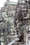 Πρόσωπο αγαλμάτων Thom Angkor Στοκ Εικόνες