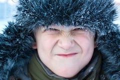 πρόσωπο αγοριών που κάνει νέο Στοκ Φωτογραφία