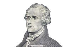 Πρόσωπο αμερικανικά δέκα ή 10 δολάριο στη μακροεντολή λογαριασμών, Ηνωμένες Πολιτείες Στοκ εικόνα με δικαίωμα ελεύθερης χρήσης