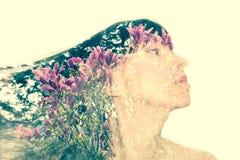 Πρόσωπο γυναίκας στο σχεδιάγραμμα στοκ φωτογραφίες με δικαίωμα ελεύθερης χρήσης