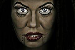Πρόσωπο γυναικών με το cretive makeup Στοκ φωτογραφία με δικαίωμα ελεύθερης χρήσης