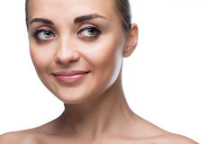 Πρόσωπο γυναικών ομορφιάς στοκ εικόνες με δικαίωμα ελεύθερης χρήσης