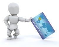 πρόσωπο δαπανών καρτών Στοκ Φωτογραφία