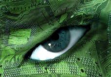 πρόσωπο δυαδικών ψηφίων στοκ εικόνες