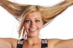 Πρόσωπο ενός ξανθού κοριτσιού Στοκ φωτογραφία με δικαίωμα ελεύθερης χρήσης