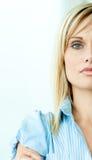 πρόσωπο επιχειρηματιών μι&sigm Στοκ Φωτογραφία