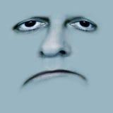 πρόσωπο κακώς λυπημένο Στοκ Φωτογραφία
