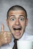 πρόσωπο καφέ αστείο Στοκ φωτογραφία με δικαίωμα ελεύθερης χρήσης