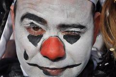 Πρόσωπο κλόουν Στοκ Φωτογραφίες
