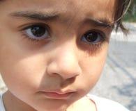 πρόσωπο λυπημένο Στοκ φωτογραφία με δικαίωμα ελεύθερης χρήσης
